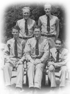 5 leaders at camp bethel 1940