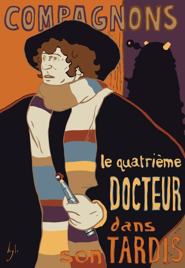 a Doctor Who French Vintage Poster Spoof