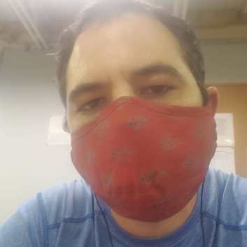 Kyle Christopher Blanchard (with a Coronavirus COVID-19 protective Nicholls facemask)