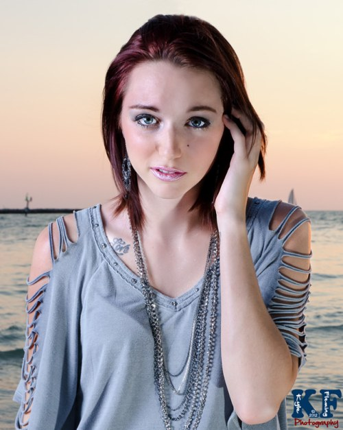 Clearwater Beach Model sunset photoshoot
