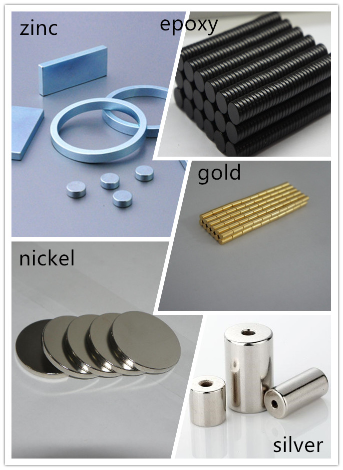 Magnet with different coating from Hongshan Magnet