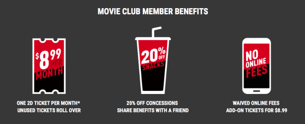 The benefits of Cinemark Movie Club