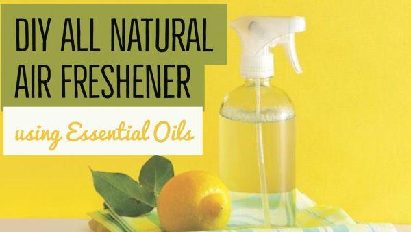 DIY All Natural Air Freshener recipe using essential oils.