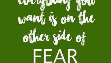 """""""Everything you want is on the other side of fear"""" quote card"""