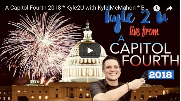 Kyle2U with Kyle McMahon, Season 2 Episode 1: Live from A Capitol Fourth 2018 featuring The Beach Boys, The Temptations, Renee Fleming and more.