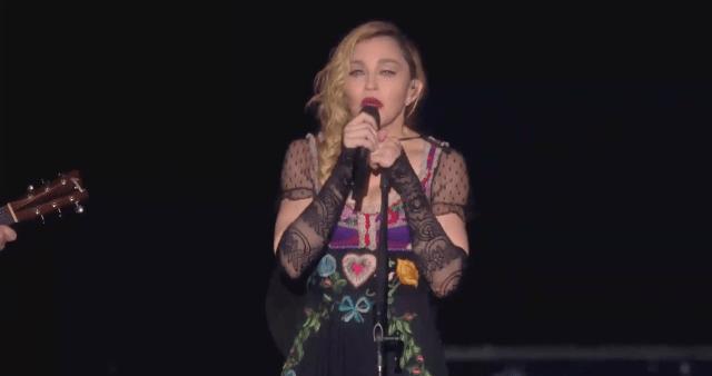Madonna gives emotional and inspirational speech in Stockholm on her Rebel Heart Tour regarding Paris terrorist attacks.