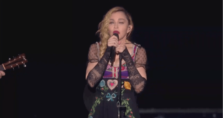 Madonna gives emotional and inspirational speech in Stockholm on her Rebel Heart Tour regarding Paris terrorist attacks.