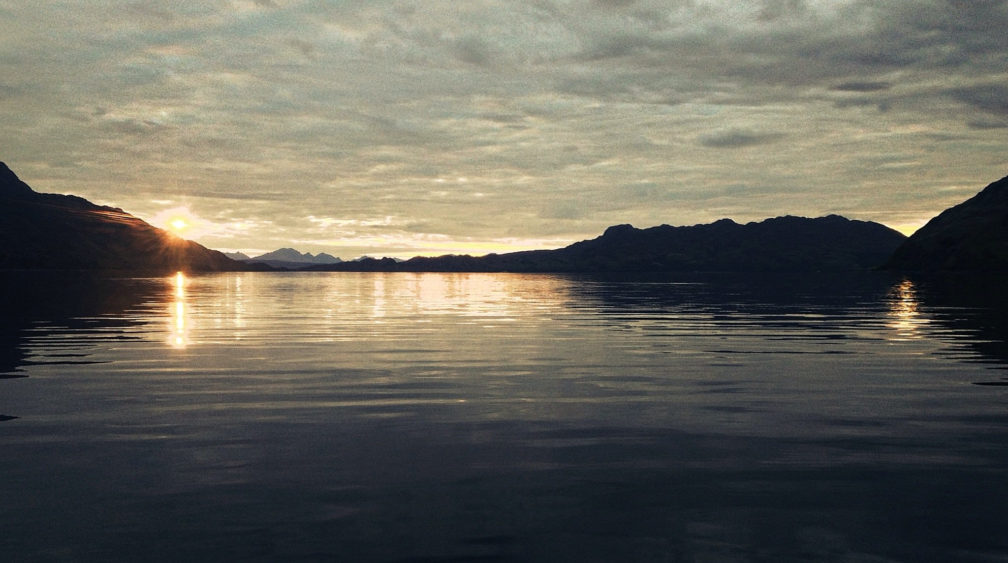 Sunset at Tarbet, Loch Nevis