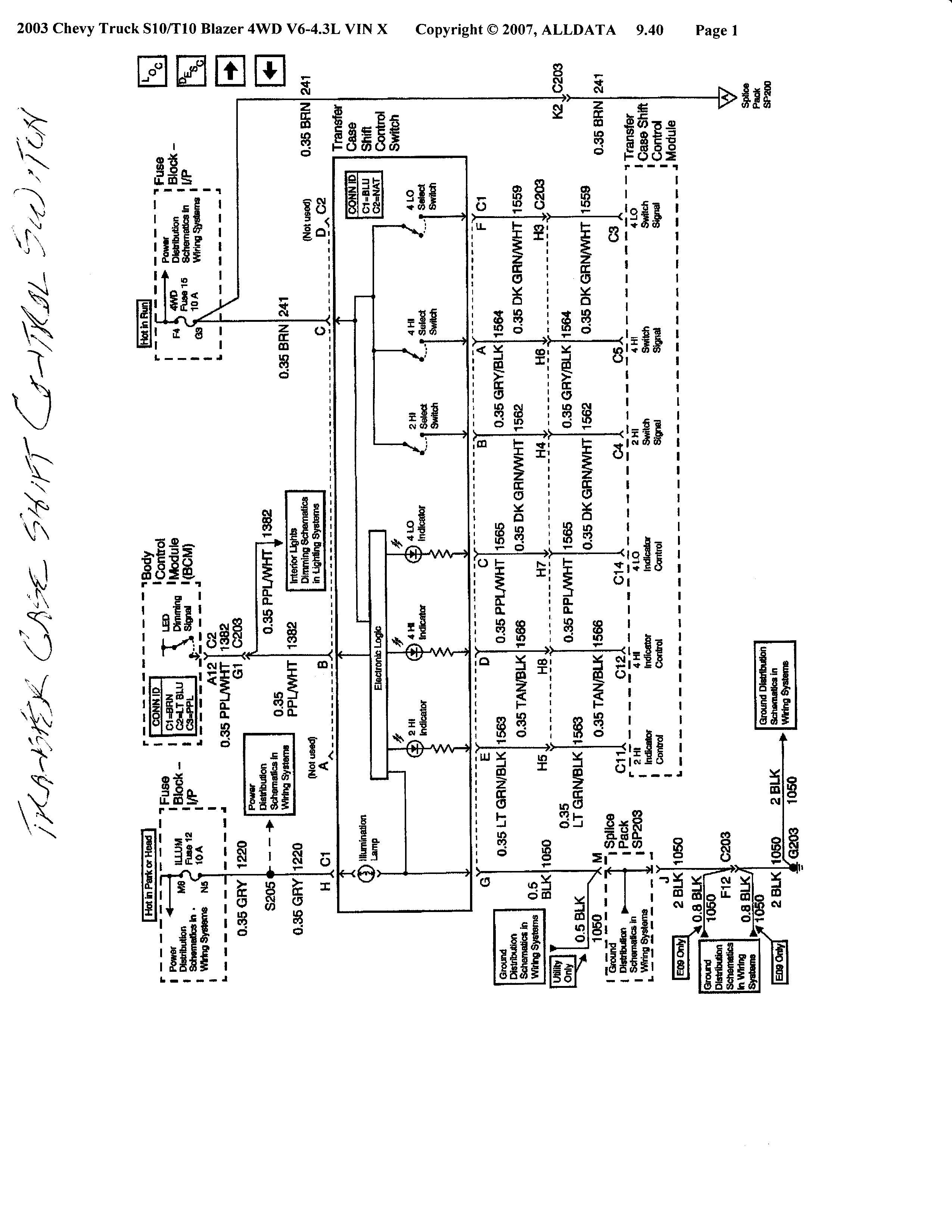 Wiring Diagram PDF: 01 Blazer Transmission Wiring Diagram