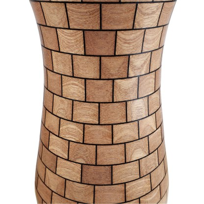 Sagemented Sapele & Walnut Vase