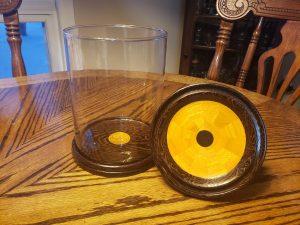 Wenge & Osage Orange Display Jar - full view, lid off