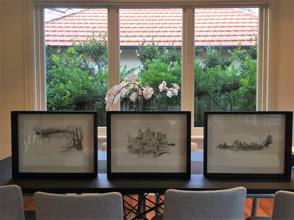 Kylie Fogarty, KFStudio, Kylie Fogarty Art Studio, City landscpaes, Landscapes, Pen and Ink Wash