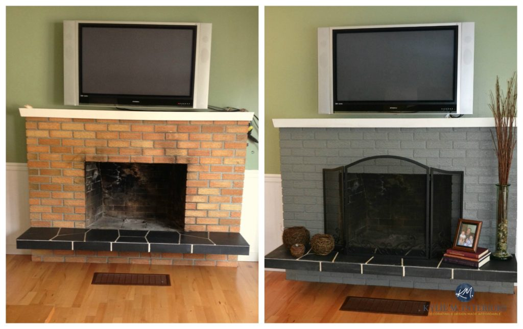 The Best Sheen To Update And Paint An Old Brick Fireplace
