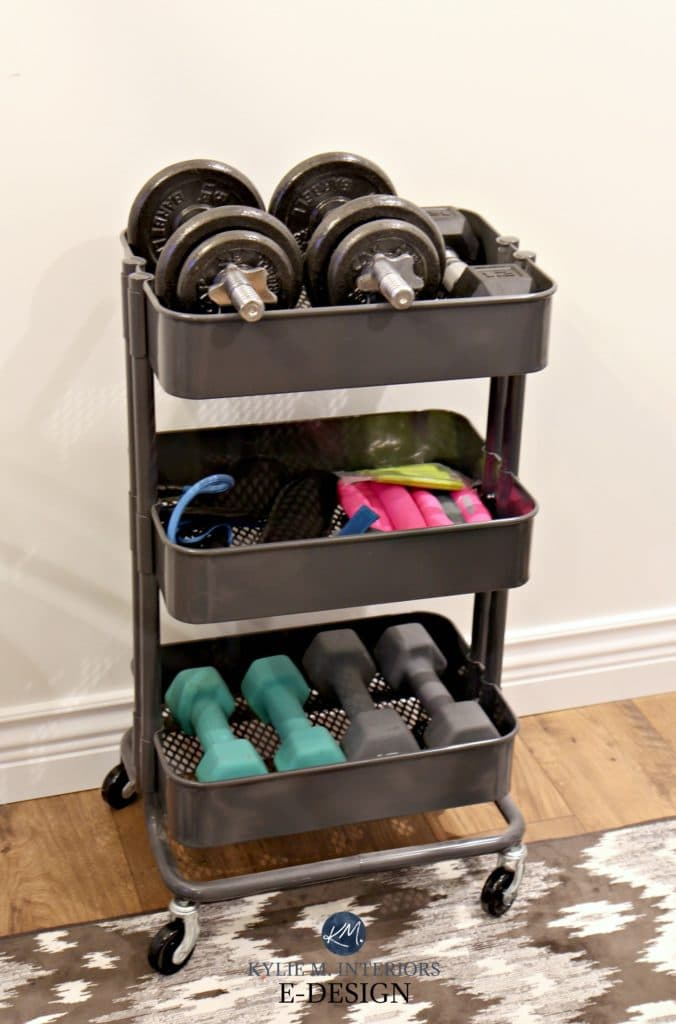 Mini Home Gym Storage Ideas For Weights Ikea Hack Raskog