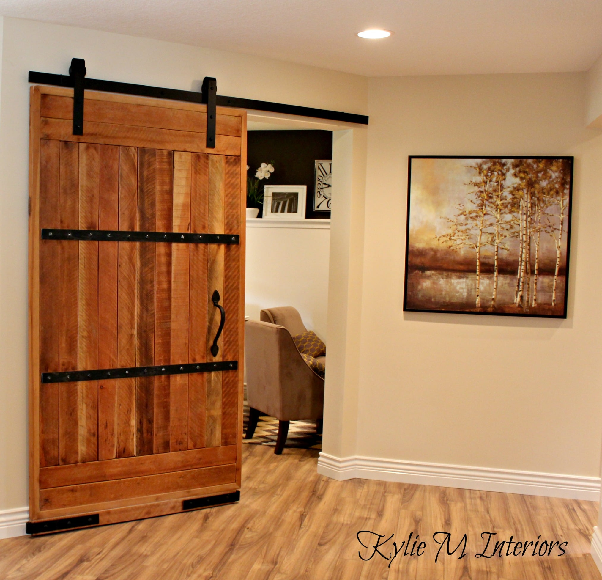 Sliding Barn Door Home Office Decorating Ideas With
