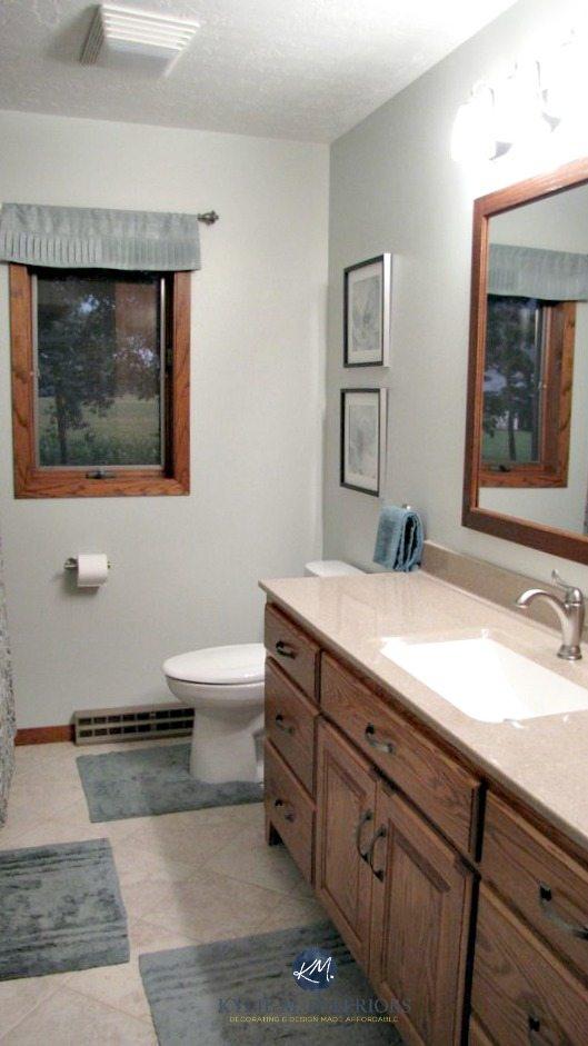 Bathroom With Oak Vanity Oak Trim And Door Benjamin