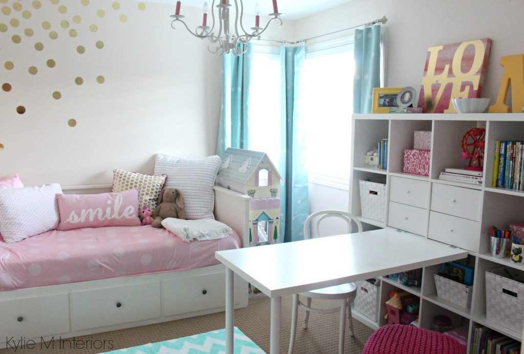 Cutie Patootie Girls Bedroom Soft Pink And Gold