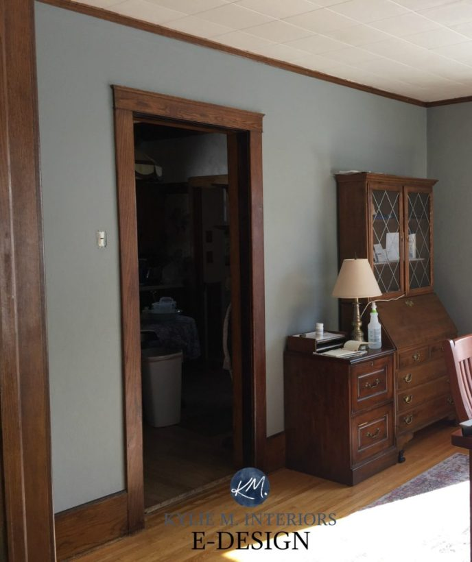The Best Wall Colors To Update Stained Cabinets: What Color Walls Go With Black Trim