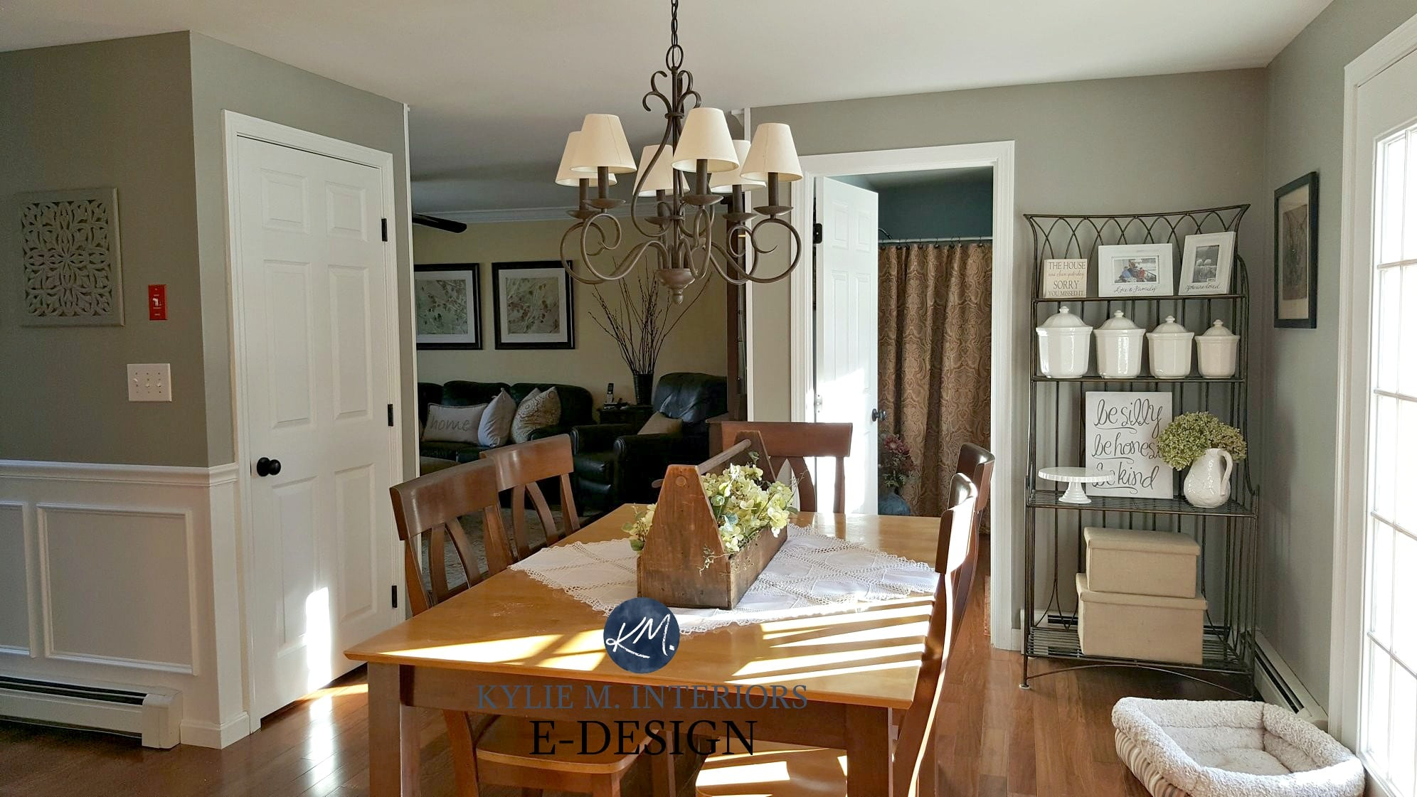 country farmhouse style dining room warm wood floor and on sherwin williams dining room colors id=60206