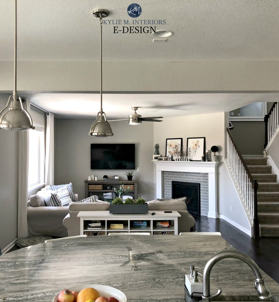 Sherwin Williams   The 10 Best Gray and Greige Paint Colours Sherwin Williams Repose Gray in kitchen