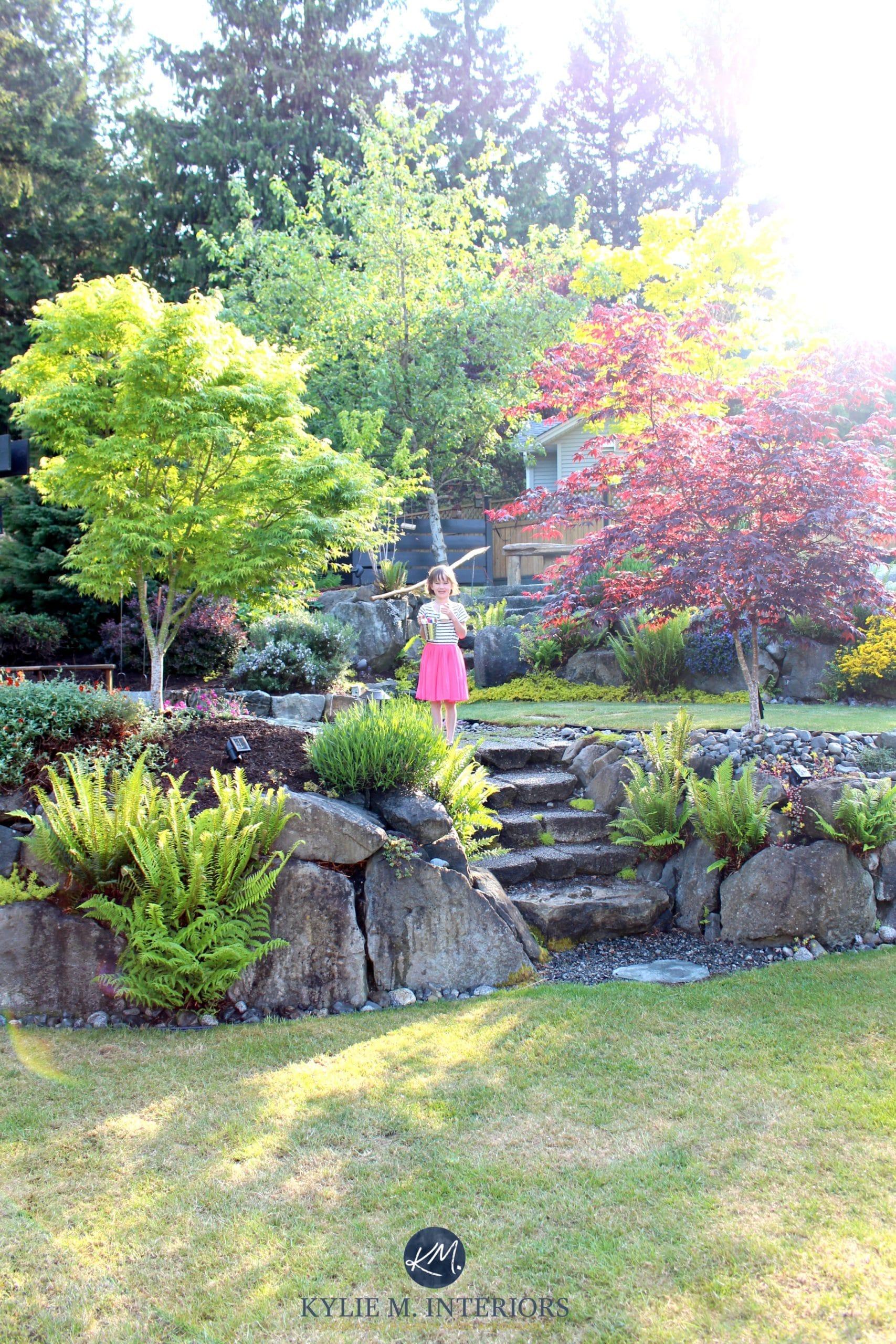 Beautiful backyard landscaping with stone steps and large ... on Beautiful Backyard Landscaping  id=34254