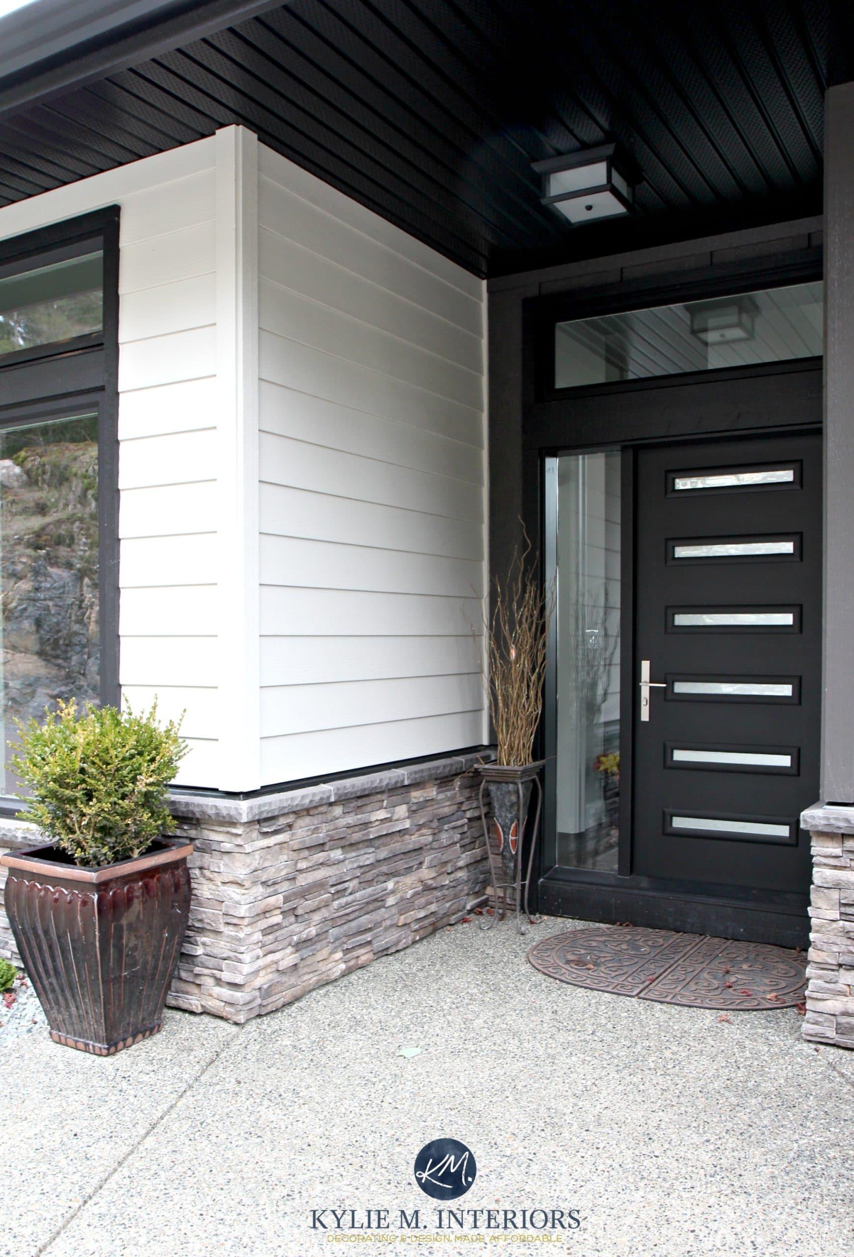 Contemporary exterior with James Hardi Cobblestone siding ... on Contemporary Siding Ideas  id=52782