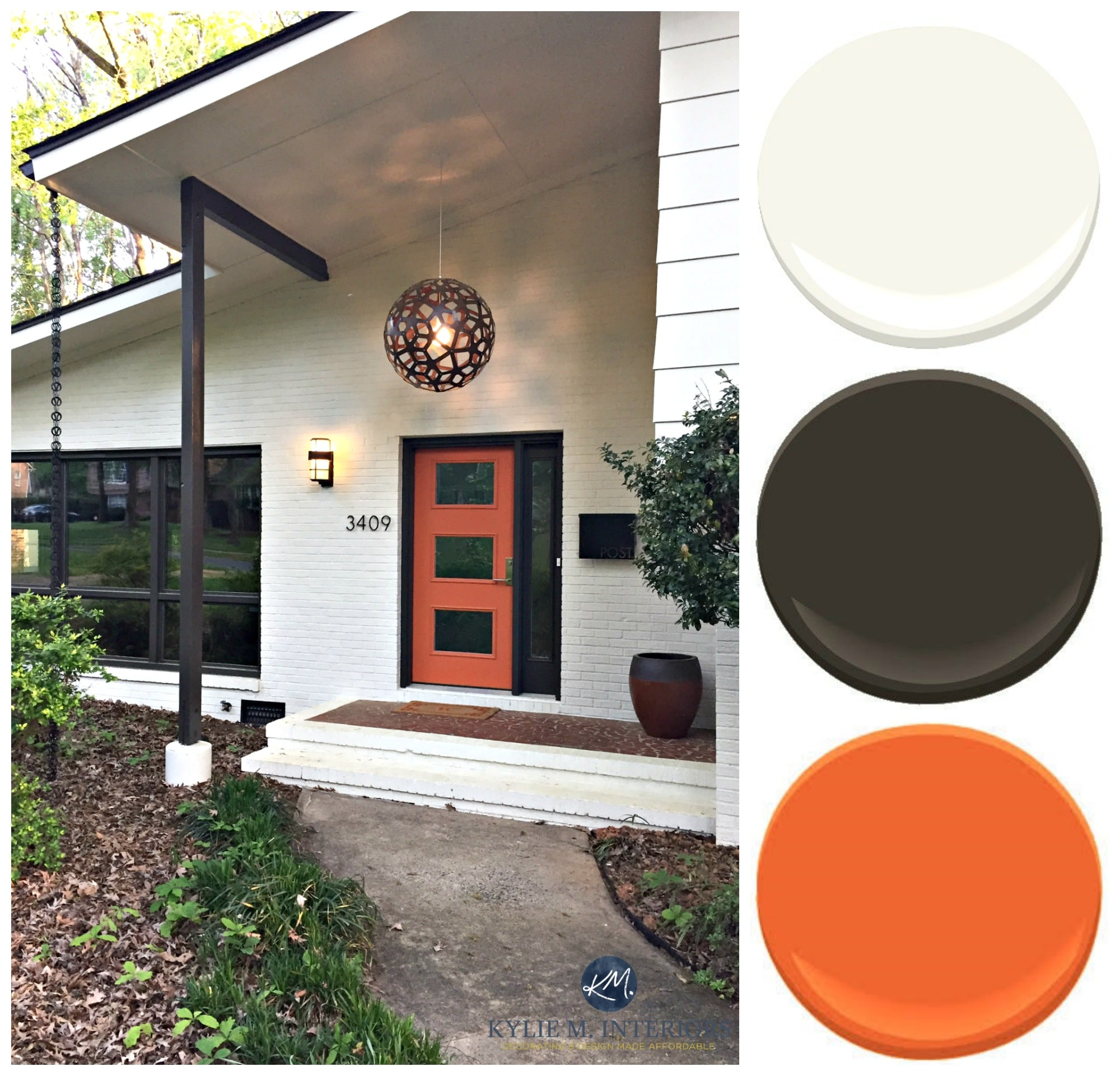 Exterior Paint Palette For Brick And Siding On A Split Level