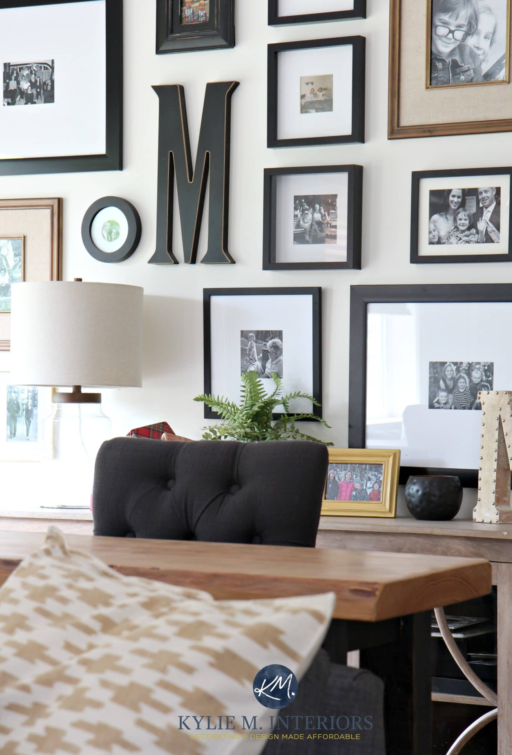 Family Photo Gallery Wall With Home Decor Kylie M