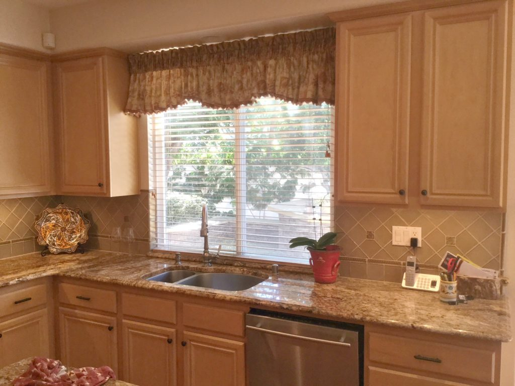 Maple cabinets before being painted, granite countertops on Gray Countertops With Maple Cabinets  id=84709