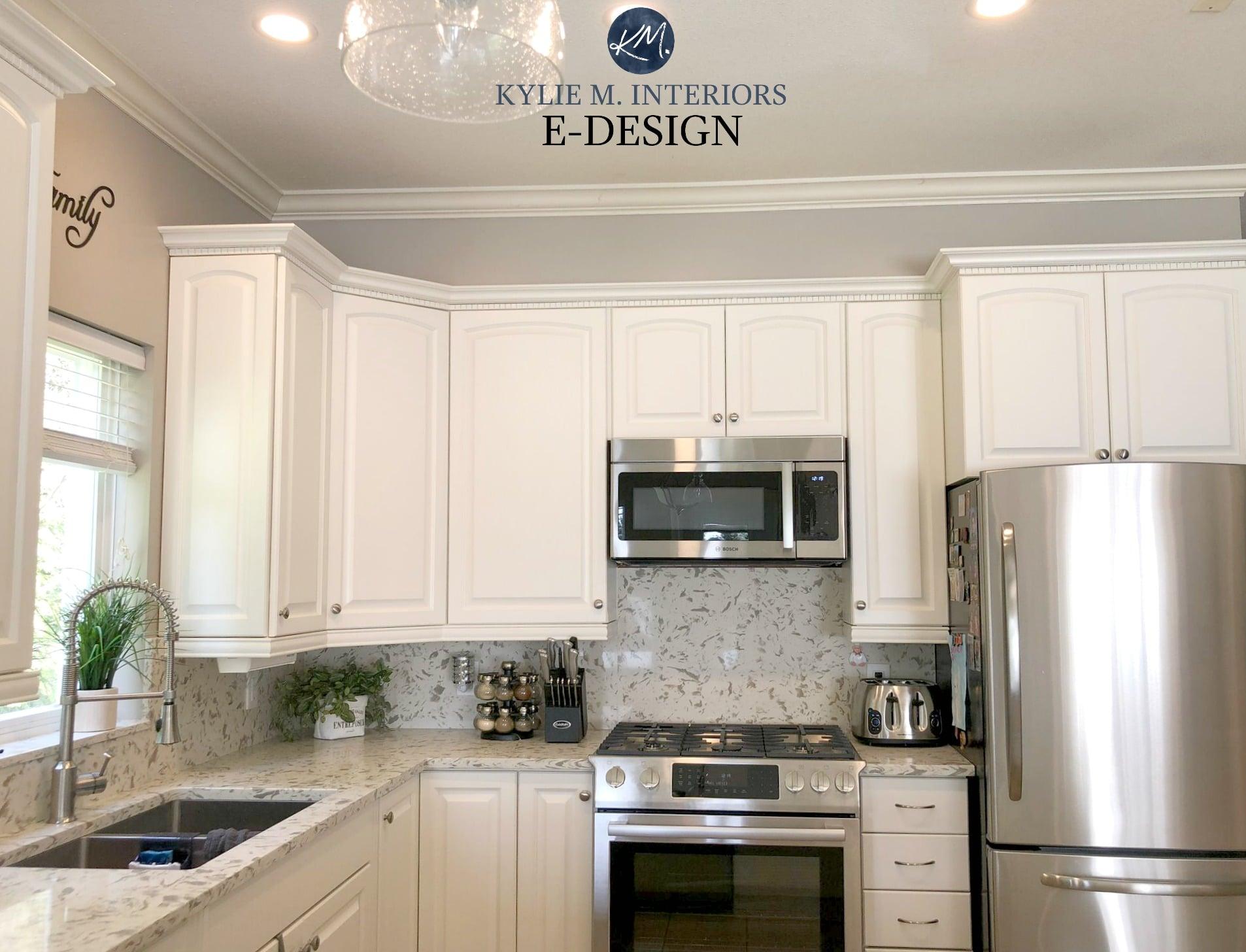 oak kitchen cabinet update with benjamin moore white dove on benjamin moore kitchen cabinet paint id=28610