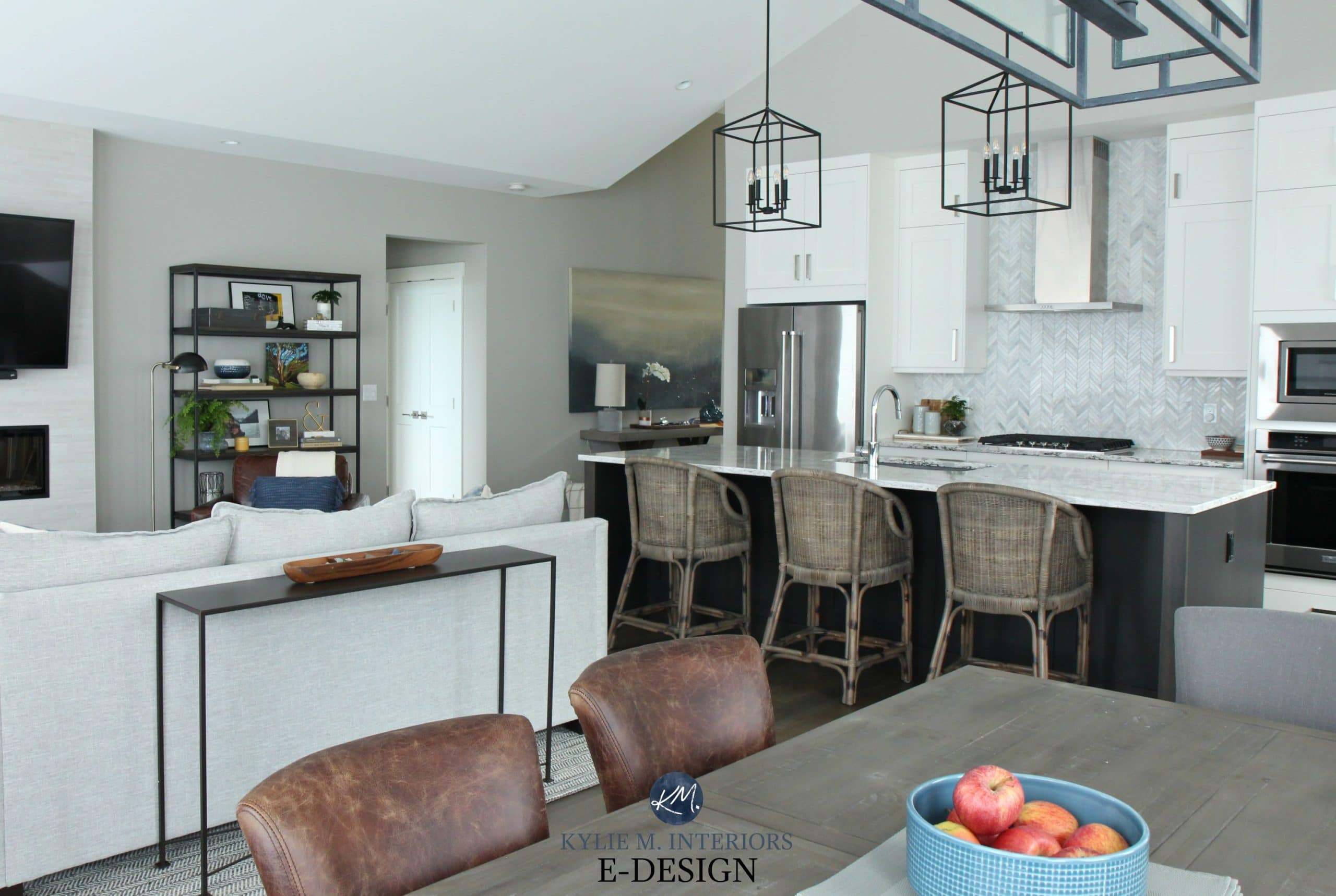 Open Layout Kitchen Living Room And Dining Room Kylie M