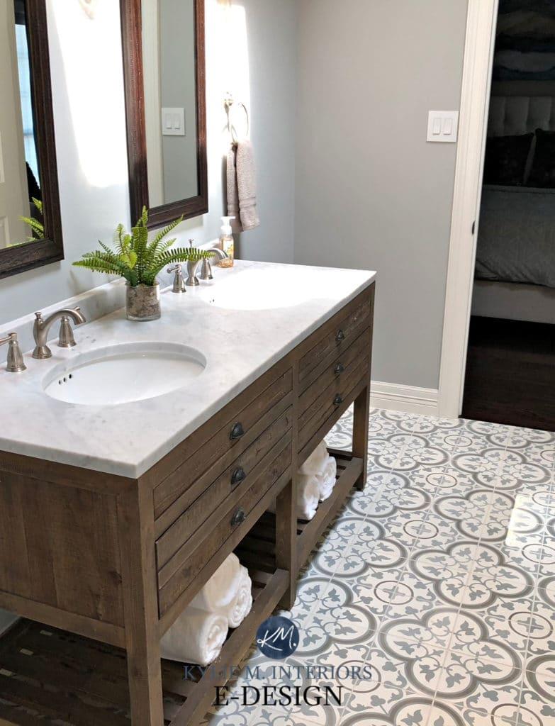 E-design: A GORGEOUS Farmhouse Bathroom with SW Argos on Farmhouse Tile Bathroom Floor  id=49445