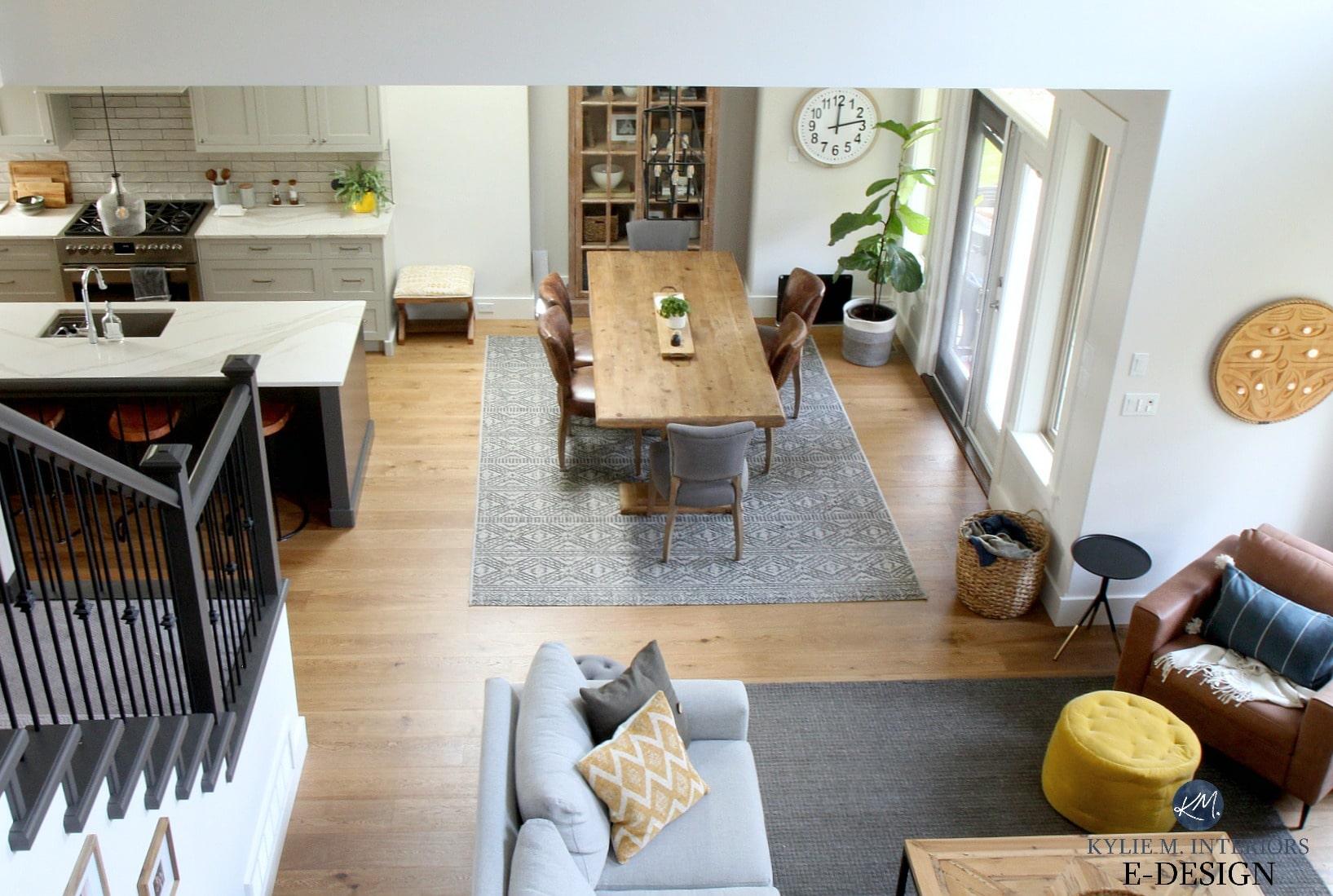 Open Layout Livingroom Dining Kitchen Oak Flooring