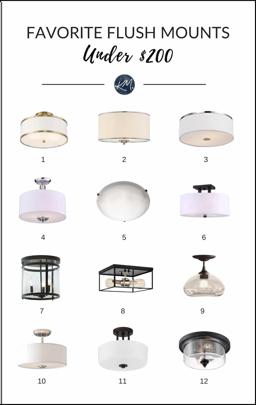 semi flush mount light fixtures