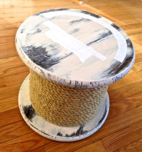 diy rope reel table