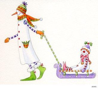 Lollystick Snowpeople - d5642-1