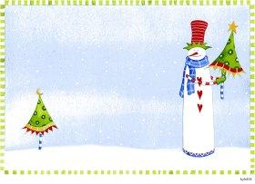 Lollystick Snowpeople - kyb434
