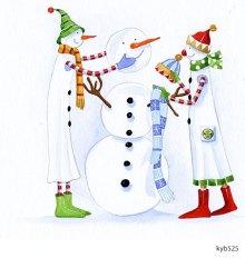 Lollystick Snowpeople - kyb525