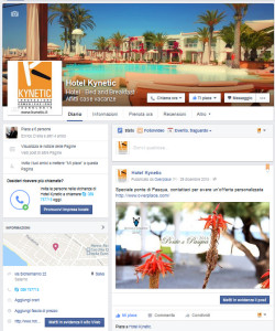 booking on line su facebook
