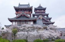 Fushimi Castle (伏見城 Fushimi-jō), also known as Momoyama Castle (桃山城 Momoyama-jō) or Fushimi-Momoyama Castle, is a castle in Kyoto's Fushimi Ward. The current structure is a 1964 replica of the original built by Toyotomi Hideyoshi.