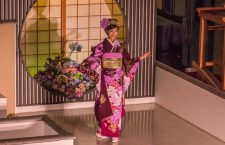 "The Nishijin Textile Center (西陣織会館‎), located on the junction of Horikawa dori and Imadegawa dori, holds daily ""Kimono Fashion Shows"" on the ground floor! It lasts about 15 minutes and seven beautiful Japanese ladies show off their kimono."