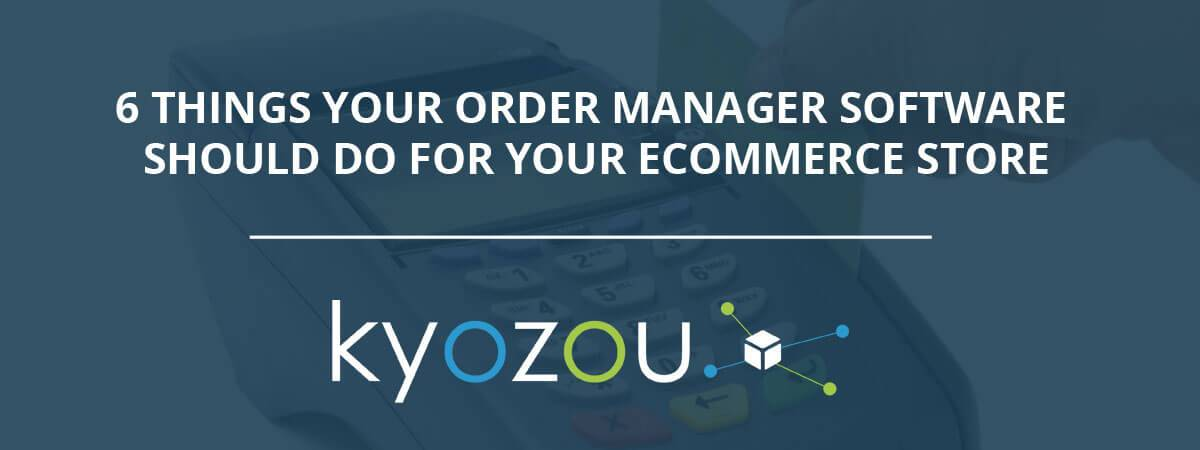 what is order manager software