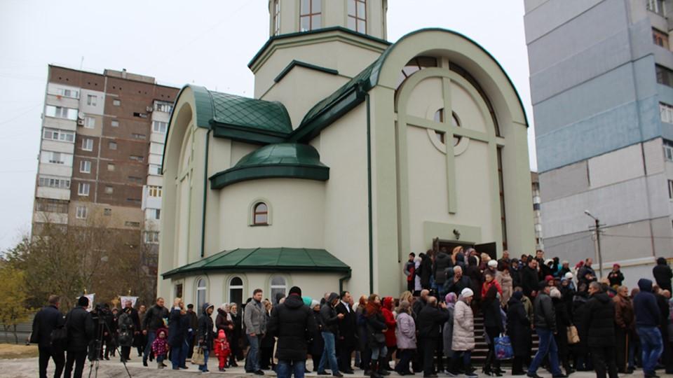 У Кропивницькому в храмі УГКЦ виставили частку мощів Миколая Чудотворця