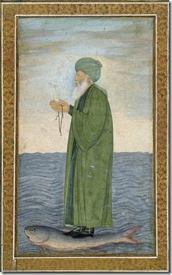 Green Man on Fish