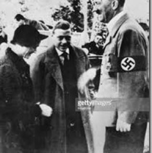 Hitler greets the windsors
