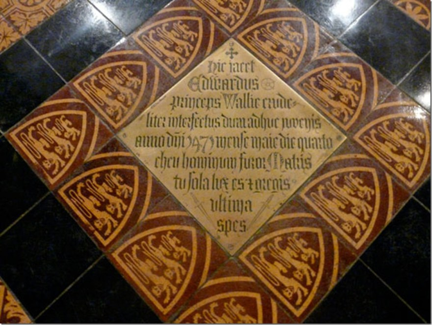 edward of westminster_plaque in abbey