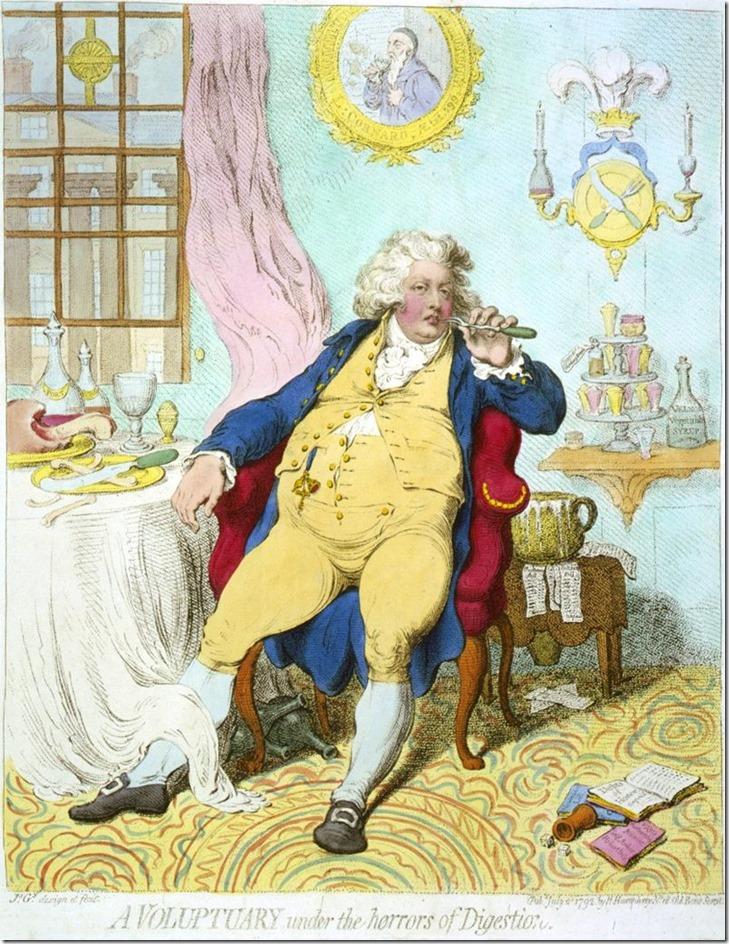 A-voluptuary Prince Regent 1792