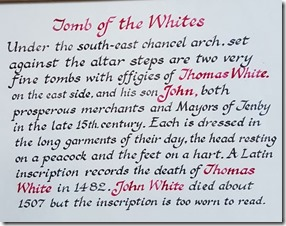 Tenby St Mary Church explanation of White tomb