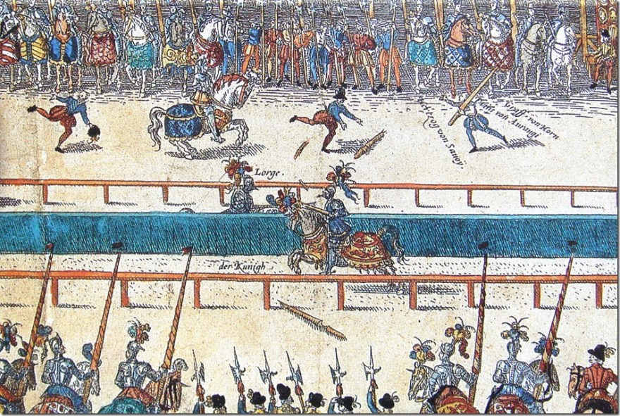 jousting tournament_between_Henry_II_and_Lorges