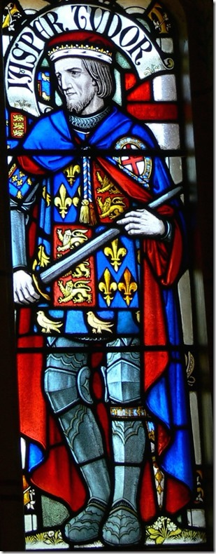 Jasper Tudor stain glass cardiff castle